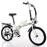 YUEXIN Bike Bicicleta Plegable,20' Bicicleta Plegable Urbana Folding Bicicleta Plegable Cuadro Aluminio Ruedas,Bicicleta Plegable Street,Adultos Unisex, Transporte público