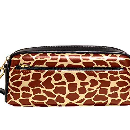 Yitian Giraffe Texture Pencil Case with Compartments Stationery Pouch Pen and Pencil Organiser Make-up Case for Children Girls for School