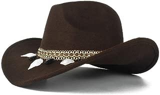 SHENTIANWEI Neutral Men Women Authentic Western Cowboy Hat Winter Outdoor Fascinator Hat Wool Trilby Sombrero Cap Size 56-58CM