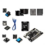 RobotDyn - IoT KIT 1 - WeMos D1 Mini PRO ESP8266 + 32Mb Flash, with Basic Shield Sets: Dual Base Shield + ProtoShield + Button + Contact Relay + Data Logger + DHT11 for Arduino IoT kit WiFi Projects
