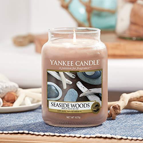 Yankee Candle Candela profumata in giara grande | Legno in riva al mare | Durata Fino a 150 Ore