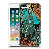 Head Case Designs Oficial Haroulita Orange Hojas 2 Carcasa de Gel de Silicona Compatible con Apple iPhone 7 Plus/iPhone 8 Plus
