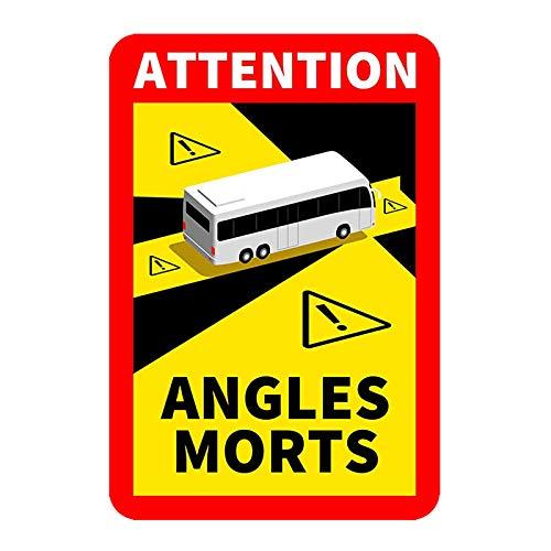 Stück Aufkleber für Toter Winkel, Buswagen, LKW, Lkw, zugelassen in Frankreich (1pc)