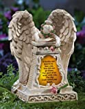 Solar Lighted Weeping Angel Garden Memorial by Collections Etc