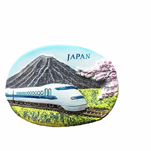 Imán de nevera 3D Mt.fuji y Shinkansen Bullet Train Japón, imanes de recuerdo turístico