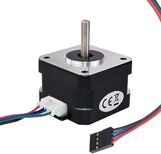 MybotOnline Nema 17 Stepper Motor 42mm Short Body Bipolar 1.8 Degree 1.2A 28oz-in 4-Lead for 3D Printer Reprap XYZ CNC Extruder Laser Engraving