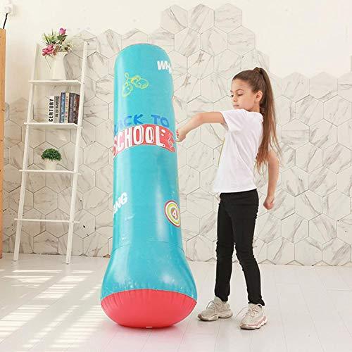 foyar Sac De Boxe Gonflable Punching Ball pour Adulte Enfant, Sac de Frappe Boxe sur Pied, Exercice et soulagement...