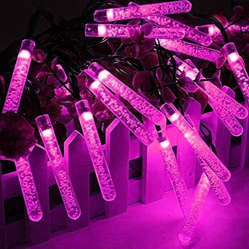 XXLYY Solar Outdoor String Lights, 4.8M 20LED Bubble Column String Lights Solar Garden String Lights Waterproof for Garden (Blue)
