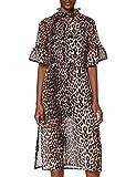 find. Vestido Midi de Flores Mujer, Marrón (Brown), 38, Label: S