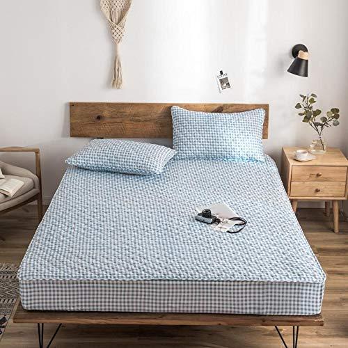 haiba Sábanas profundas de algodón para cama individual, doble, king y super king, sábana de cama de 180 x 200 + 36 cm