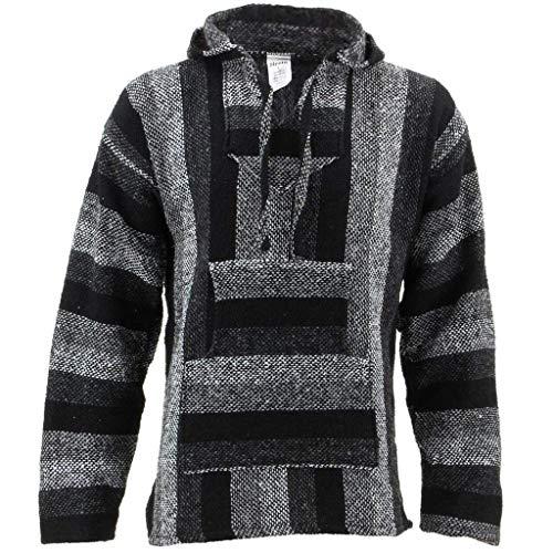 Chaqueta con capucha, tonos grises, hippie, parte superior gris gris X-Large