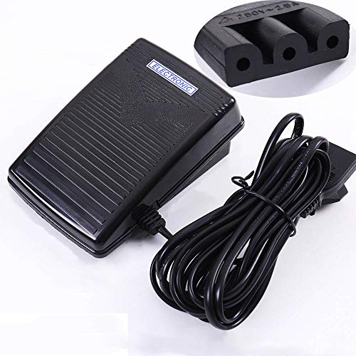 Foot Control Pedal and Power Cord for Singer 4423 Sewing Machine, Non Slip Speed Controller Replacement Set for JUKI
