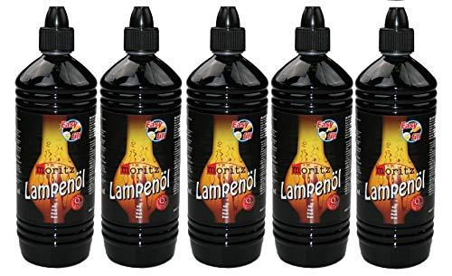 Moritz 5 Liter Lampenöl für Öllampen Bambusfackeln Gartenfackel und Wandfackeln