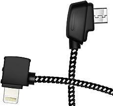 Hanatora Micro AB to iOS 8.14 Inch Remote Controller Cable for DJI Mavic Mini, Mavic 2 Pro Zoom/Mavic Air/Mavic Pro Platin...