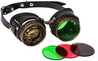 Cosplay Party Masquerade Props Steampunk Glasses Vintage Punk Goggles Eyeglasses