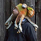 MiaoKa Octopus Tentacle Hat, Hand-Woven Knitted Octopus Hat, Party Costume Cosplay for Adult