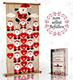 Caridano® Weihnachtskalender - Adventskalender zum Befüllen nachhaltig inkl. Weihnachtsgedichte -...