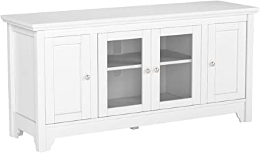 """Walker Edison Wood Universal Stand with Storage Cabinets for TV's up to 58"""" Flat Screen Living Room Entertainment Cen"""