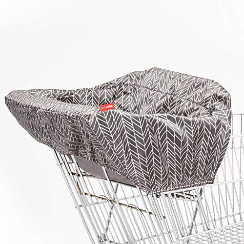 Skip Hop Baby Shopping Cart & High Chair Cover: Machine Washable Cart Liner with Padded Seat, Grey Feather
