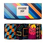 Krayzie Sox bunte, lustige, Socken/Strümpfe in Geschenkbox für Damen & Herren (Orange)
