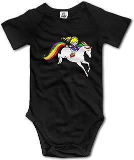 Rainbow Brite Baby Boys Girls Romper Bodysuit Infant Funny Jumpsuit