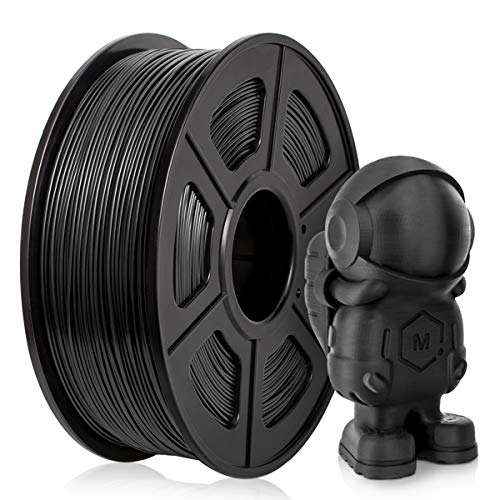Filamento PLA 1,75mm, Filamento PLA Stampanti 3D 1KG, Upgraded PLA Nero 1KG Spool