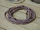 Armband Toho Glasperlen Perlen Handarbeit Wickelarmband Damen Kupfer rose gold Hippie Boho Ibiza Style Kette