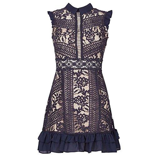 (イザベル ロンドン) Izabel London レディース ワンピース・ドレス ワンピース Lace Panel Frill Dress [...