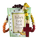 Set de regalo de bautismo católico para bebé, incluye el primer rosario del bebé y el primer libro de oraciones del bebé, bautismo perfecto, bautizo, regalo de ducha
