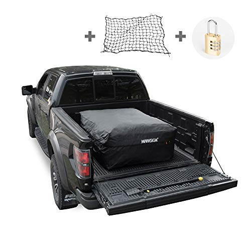 MARKSIGN 100% Waterproof Truck Cargo Bag with Net, Fits Any Truck Size, 4 Rubber Handles, 26 Cubic Feet (51''x40''x22'', Patent Pending