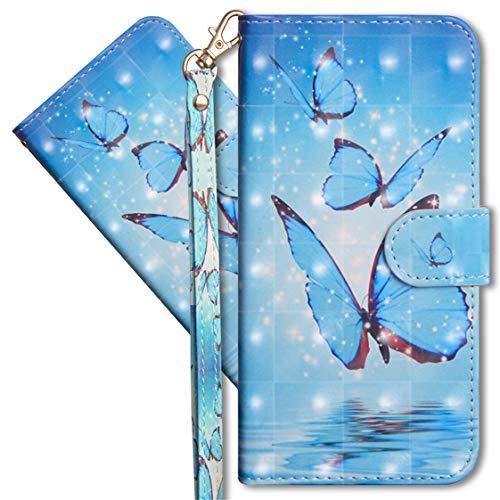 MRSTER Oppo Find X2 Neo Handytasche, Leder Schutzhülle Brieftasche Hülle Flip Hülle 3D Muster Cover mit Kartenfach Magnet Tasche Handyhüllen für Oppo Find X2 Neo 5G. YX Butterfly Spring