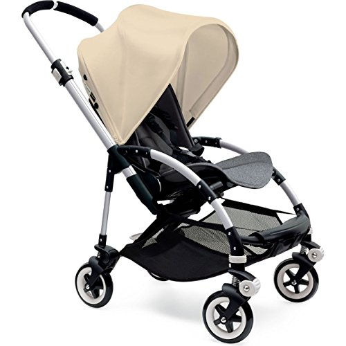 Cheapest Price! Bugaboo Bee3 Stroller - Off White - Grey Melange - Aluminum