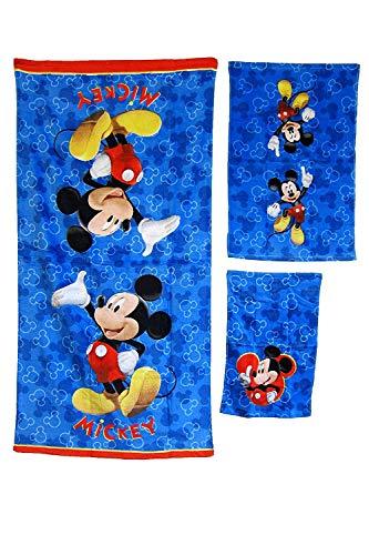 3 Pieces Disney Pixar 100% Cotton Bath, Hand, and Fingertip Towel Sets -
