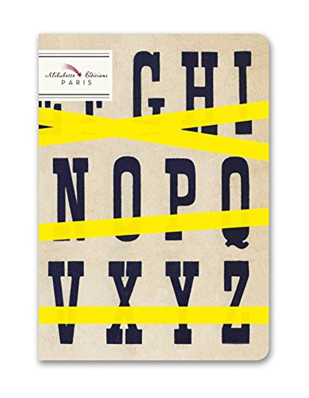 Alibabette Editions Typo Top Unlined Compostion Notebook, 6.75 by 4.75