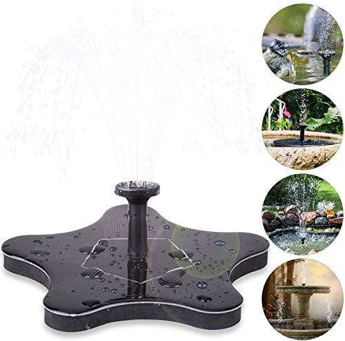 CPAZT 1.4W Outdoor Solar Springbrunnenpumpe, Garten-Solarwasserpumpe, solarbetriebene Wasserpumpe, Schwimmdock Brunnen for Pool Teich Garten Innenhof Aquarium Dekor YCLIN