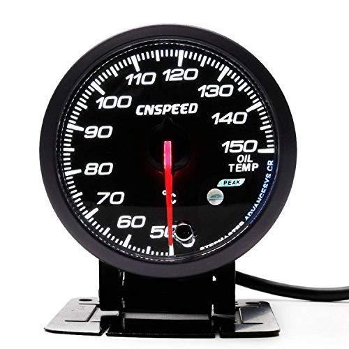 PYROJEWEL Panel de instrumentos de 60 mm de 2,5' de coches Turbo Boost Gauge Pantalla 3 BAR 12v blanco LED ámbar de advertencia con el pico con el sensor YC101410 for motores, barcos, automóviles modi