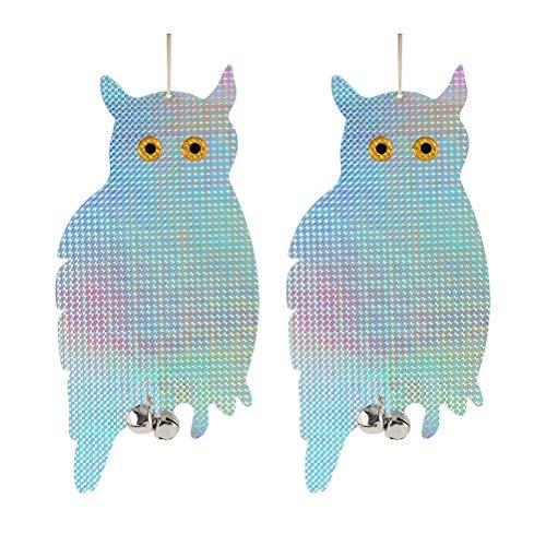 Reflektierende Eule, Vogelschreck mit doppelseitigem Muster Vogelschreck Abwehr Gerät attraktive Hanging Bird Repellents für Tauben, Möwen, Schädlinge