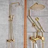 HSIYE Set de ducha Mezclador de ducha de baño de oro...