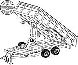 14HD Trailer Plan - 6'4' x 14' Tandem Axle 14K Dump Trailer DIY How-to Blueprint