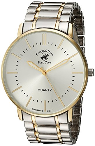US Beverly Hills Polo Club Men's Beverly Hills Polo Club Analog-Quartz Watch with Alloy Strap, Two Tone, 22 (Model: 53318)