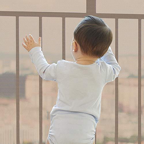 Red de seguridad para niños, barandillas duraderas para niños, seguridad para escaleras interiores, barandillas, cunas, balcón, fácil de instalar y usar para niños,10 x 2,5 pies