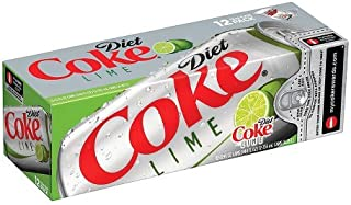Coca-Cola Diet Coke With Lime, 12 Ounce (12 Cans)