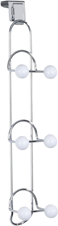 WENKO Purse Wardrobe 全国どこでも送料無料 Triana with 1 Hooks Metal 品質保証 Multi-Colour 6