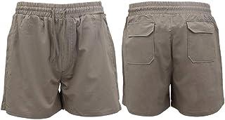 Zmart Men's Heavy Duty Cotton Drill Work Shorts Trousers Pants Elastic Waist 4 Pockets