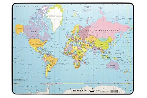 Durable 721119 Sottomano con Mappa Politica del Mondo, Antiscivolo, 530 x 400 mm