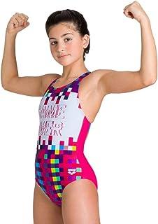 Arena Girls Sports Swimsuit Game, Freak Rose-Turquoise