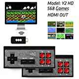 Data Frog USB Wireless Handheld TV Video Game Console Built-in 568 Classic Video