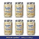 Nutribén Potitos De Macedonia De Frutas con Cereales Desde Los 6 Meses Pack de 6 x 235 gr.
