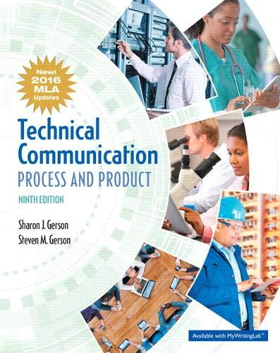 Technical Communication: Process and Product, MLA Update