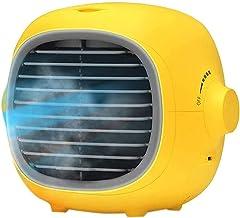 SMSOM airconditioningventilator, draagbare luchtkoeler kleine desktopventilator verstelbare compacte super stille persoonl...